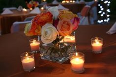 Table Centerpieces for Copper Tables.