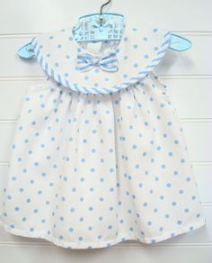 Vintage Baby Clothes Baby Girl Dress In White by OnceUponADaizy, $15.00