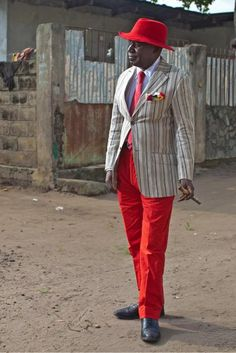Dandy of Brazzaville, Republic of Congo Sharp Dressed Man, Well Dressed Men, African Men, African Fashion, African Style, Congo, Suit Up, Stylish Men, Dapper