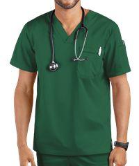 Butter-Soft Stretch Men's V-Neck Sleeve Pocket Scrub Top - XS - Caribbean Blue Scrubs Uniform, Men In Uniform, Cute Scrubs, Corporate Wear, Lab Coats, Scrub Jackets, Medical Uniforms, Womens Scrubs, Uniform Design
