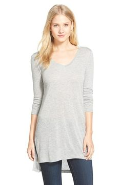 I liked this in the Red Mars color - Halogen® Long Sleeve Lightweight Tunic (Regular & Petite) available at #Nordstrom