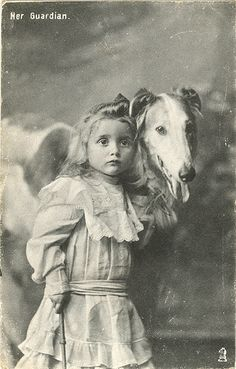 "Postcard-""Her Guardian"" by Rescued by Rover, via Flickr"