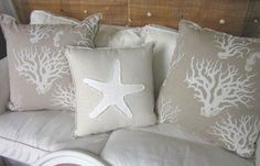 Mediterranean White Coral Pillows