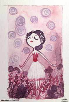 Lavender - part of my watercolor Wednesdays project! Purchase...