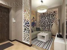 80 Stunning Privacy Screen Design for Modern Home Living Room Partition Design, Living Room Divider, Room Partition Designs, Living Room Tv, Screen Design, Home Interior Design, Interior Decorating, Plafond Design, Ceiling Decor