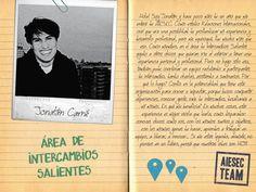 Jonatán y su experiencia en AIESEC Posters, Inspiration, Design, Rosario, Te Quiero, Biblical Inspiration, Poster, Billboard