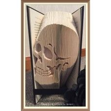 A SIMPLE SKULL - Bookami® - Book Folding Pattern, book fold, cut and fold, book art, paper crafts, bookfold, origami