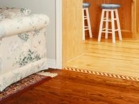 Custom Transition Strips Help Blend Two Diffe Color Floors