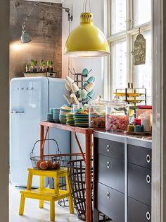 réfrigérateur smeg couleur bleue