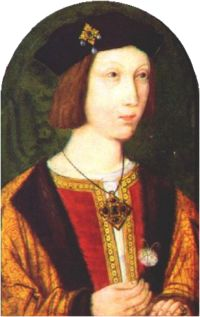 Arthur Tudor (1486 - 1502). Prince of Wales from 1489 to his death in 1502. He married Catherine of Aragon but had no children.