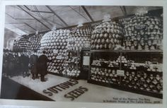 Postcard showing the Visit of His Majesty The King to Sutton's Stand at the Cattle Show 1909. Sutton's Seeds King Edward VII