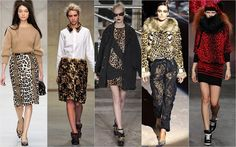 Leopard Print. With a strong emphasis on Leopard prints, English designers answered calls to the wild.