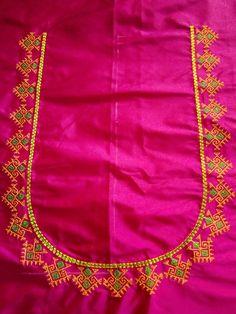 Cutwork Blouse Designs, Kids Blouse Designs, Pattu Saree Blouse Designs, Hand Work Blouse Design, Simple Blouse Designs, Blouse Back Neck Designs, Stylish Blouse Design, Maggam Work Designs, Sumo