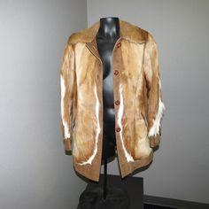 REAL WHITETAIL DEER HIDE FUR LEATHER JACKET COAT WESTERN COWBOY COWGIRL S - M  #Unbranded #BasicCoat