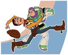 Toy Story - Buzz Lightyear x Woody Pride Disney Pixar, Disney Toys, Disney Fan Art, Disney And Dreamworks, Gay Halloween Costumes, Zootopia Fanart, Toy Story Movie, Woody And Buzz, Toy Story Buzz Lightyear
