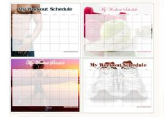 Get your workout calendars and printouts.