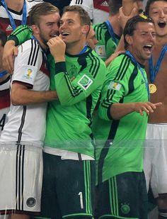 Manuel Neuer and Christoph Kramer