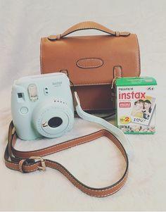 Instax mini 9 camera leather bag.