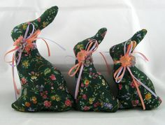 STUFFED BUNNY Tuckins, Set of 3, Bunny Tucks, Easter Bunny, Bunny Ornaments, Bunny Decorations, Easter Ornaments, Easter Decoration