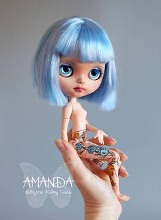 AMANDA  Ooak custom BLYTHE doll  japanese style tattoos