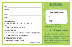 pledge cards for fundraising