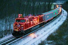 Canadian Christmas Train - The Canadian Pacific Holiday Train hits the rails… Holiday Train, Christmas Train, Christmas Lights, Christmas Express, Christmas Time, Christmas Stuff, Winter Christmas, Christmas Ideas, Merry Christmas