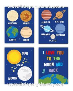 Solar System Art for Kids  Planets Wall Decor  by LittlePergola