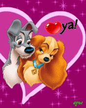 DISNEY LADY AND THE TRAMP GIF Disney Dogs, Walt Disney, Disney Couples, Disney Art, Image St Valentin, Pato Donald Y Daisy, Disney Movies, Disney Characters, Fictional Characters