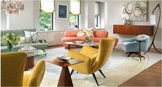 Home interior in Middle 20th century style via interiorholic.com