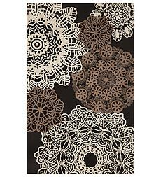 Ravella Crochet Polypropylene/Acrylic Indoor/Outdoor Area Rug -  Great for high traffic areas and the kitchen(easy to clean)