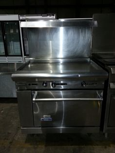 """Used AMERICAN RANGE 36"""" Griddle Top Natural Gas/USEDRANGE-2085/Contact us for quotes, pricing and product details/ by AIMCO Equipment Company. Used Equipment, Oven Range, Grilling, Kitchen Appliances, American, Natural, Outdoor Decor, Quotes, Top"""