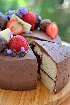 Vegan Chocolate Lava Layer Cake