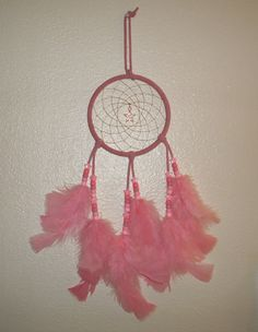 ALL PINK Dream Catcher by TheCraftyCuban on Etsy, $25.00
