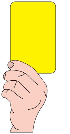 referee soccer yellow card