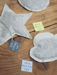 Homemade tea bags to use at tea time and make an excellant gift!
