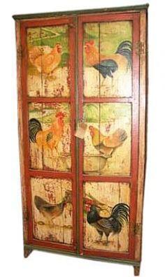 Rooster Panel 2-Door Cabinet