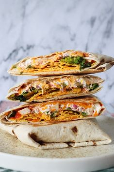 Sprøde Nachos Crunch Wraps – One Kitchen – A Thousand Ideas Gourmet Recipes, Mexican Food Recipes, Healthy Recipes, Nachos, Crunch Wrap, Crunches, Tortillas, Clean Eating Snacks, Food Inspiration