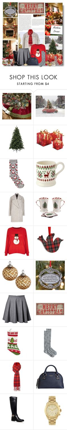 """""""It's the most wonderful time of the year!"""" by kikusek ❤ liked on Polyvore featuring Pottery Barn, Harrods, Stop Staring!, CO, Oasis, River Island, Spode, New Look, Artcuts and H&M"""