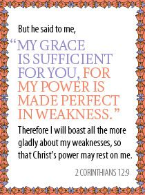 Quick devotion for families: Strength in Weakness (2 Corinthians 12:9)