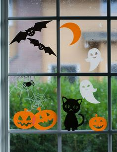 Halloween Window Cling Designs by Lia Griffith. Make It Now in Cricut Design Space