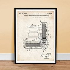 1948 Polaroid Land Instant Camera Invention Patent Poster Unframed Poster Store, Sale Poster, Polaroid Instant Camera, Buy Camera, Art Posters, Poster Prints, Inventions, Image Link
