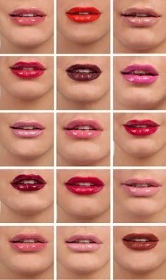 I'm really into lip colors right now Diy Makeup, Makeup Tips, Beauty Makeup, Face Makeup, Hair Beauty, Lipstick Colors, Lip Colors, Colors For Skin Tone, Beautiful Lips