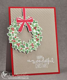 Wondrous Wreath Christmas from Joyful Creations with Kim using stamps and dies from Stampin' Up.