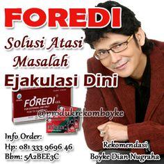 Foredi Gel adalah ramuan herbal pria dewasa yang berkhasiat untuk membantu mengatasi masalah Ejakulasi Dini, sehingga hubungan intim menjadi lebih tahan lama.  http://tokoprodukkesehatan.com/foredi-gel/