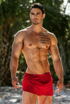 My fav color! I'll have to take those shorts from him, lol.