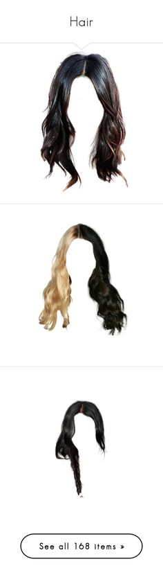 """""""Hair"""" by beyzalwaysperf ❤ liked on Polyvore featuring hair, doll parts, wigs, doll hair, blonde, blonde hair, hairstyles, dolls, fillers and beauty"""