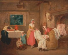 Francis Wheatley, 1747-1801, British, Night, 1799, Oil on canvas, Yale Center for British Art, Paul Mellon Collection