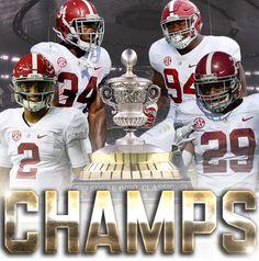 Sugar Bowl CHAMPS! Alabama 24 Clemson 6 #Alabama #RollTide #Bama #BuiltByBama #RTR #CrimsonTide #RammerJammer #CFBPlayoff #SugarBowl