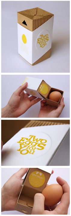 Two Eggs for You! Eggs packaging