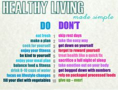 Healthy living made simple: Make a plan, eat fresh, enjoy your food :)  #HealthyLiving #FreshFood #Vegetables #Food2Live